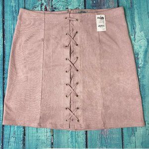 Charlotte Russe Sexy Soft Stretch Skirt Ultrasuede